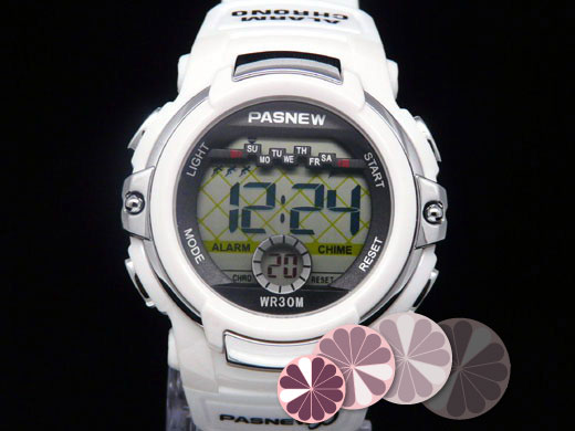 Pasnew Rubber Digital Gray Sports Watch