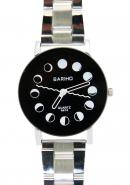 Bariho Sleek Black Dial WR 30M Stainless Steel Quartz Watches