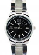 Bariho Stunning Black Dial WR 30M Stainless Steel Quartz Watches