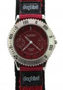 Daybird Men's Precise Measurement Quartz Movement Red Fabric Sport Watches,Hour Minute Second Timer