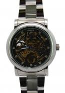 Daybird Men's Boys' Black Hollow Out Gemstone Inlaied Dial Automatic Mechanical Skeleton Watches
