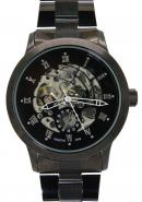 Daybird Men's Black Roma Dial Black Strap Automatic Business Mechanical Watches,Men's Ornaments