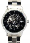 Daybird Men's Black Roma Dial White Strap Automatic Business Mechanical Watches,Men's Ornaments