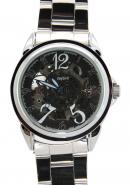 Daybird Men's Full Steel Strap White Pierced Skeleton Classy Conservative Functional Automatic Watch