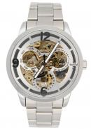 Daybird Business Men's White Dial Automatic Stainless Steel Mechanical Dress Decorative Watches