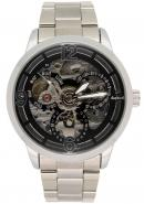 Daybird Business Men's Black Dial Automatic Stainless Steel Mechanical Dress Decorative Watches