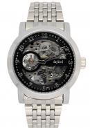 Daybird Silver Bracelet Black Pellucid Lucid Dial Waterproof Men's Designer Classic Mechanical Watch