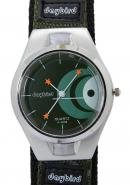 Daybird Young Mens Boys Fashion Casual Green Fabric Green Face Quartz Wrist Watches,A good Gift