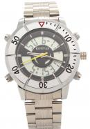 KONTAS Stainless Steel 2Dials Dual Time Day Date Sports Watches