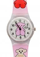 TimerMall Cartoon Tous Round Dial Pink Quartz Watches