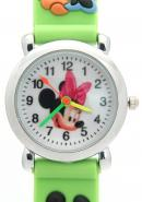 Disney Green Quartz Cartoon Watches Mickey and Minnie Mouse Theme
