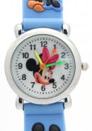 Disney Blue Quartz Cartoon Watches Mickey and Minnie Mouse Pattern