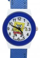 TimerMall SpongeBob SquarePants Blue Children Leather Watches