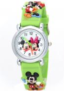 TimerMall Original Mickey Mouse Analogue Green Kids Lovely Watches