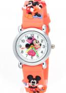 Timermall Kids Minnie Mouse Cartoon 3D Mickey Mouse Strap Analogue Watches