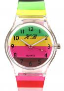 TimerMall Fashion Clear Numbers Hour Markers Waterproof Colorful Children's Watches