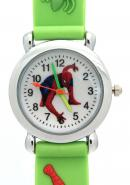 TimerMall Green Band Spider Man Pattern Water Resistant Children's Sport Style Watches