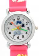 TimerMall Snoopy Pattern Dial Rose Red Band Clear Numbers Hour Markers Children's Watches