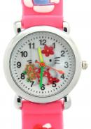 TimerMall Fashion Lovely Hello Kitty Pattern Round Dial Quartz Children's Watches