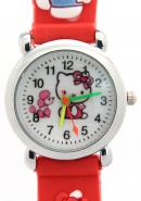 TimerMall Hello Kitty Pattern Clear Numbers Hour Markers Fashion Children's Watches