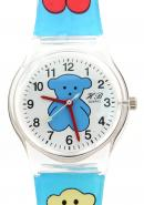 TimerMall TOUS Bear Kids Cartoon Transparent Strap Analogue Round Dial Time Teacher Quartz Watches