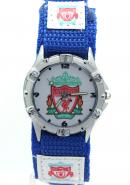 Timermall Liverpool FC Blue Fabric Strap Analogue Sport Watch