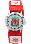 Timermall Liverpool FC Red Fabric Velcro Strap Analogue Sport Watch