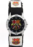 Timermall Barcelona FCB Black Fabric Strap Analogue Sport Watch