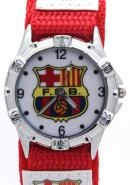Timermall Barcelona FCB Red Fabric Strap Analogue Sport Watch