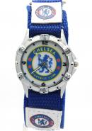 Timermall Chelsea FC Blue Fabric Strap Analogue Sport Watch