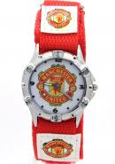Timermall Manchester United FC Red Fabric Strap Analogue Sport Watch
