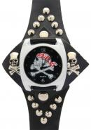 TimerMall Piracy Pattern Black Dial Watches with Human Skeleton