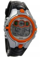 Ohsen Digital Orange Surface Analogue Date Alarm  Black Band Watches