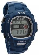 OTS Fashion Watches Blue Rubber Band  Digital Alloy Chronograph