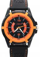 SBAO Mens Boys Black Dial Steel Back None WaterProof Quartz Fashion Orange Sports Leisure Watch