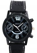 SBAO Mens Fashion Decoration Subdial Black Bezel Water Resistant Quartz Sports Watches