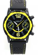SBAO Mens Boys Fashion Decorative Subdial Yellow Bezel None Water-resistant Quartz Sports Wristwatch