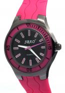 SBAO Mens Boys Girls Womens Pink Rubber Strap Stationary Bezel None Water-resistant Sports Watches