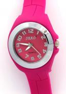SBAO Ladies Fashion Analogue Pink Rubber Band Water Resistant Quartz Watches
