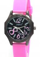 SBAO Women's Female Gilrs Lady Miss Wrist Watch Round Dial Quartz Analog Pink Watches