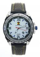 SHAO PENG Mens Fashion Date Waterproof Multicolour Strap Stainless Steel Analog Quartz Watches