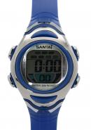 Santai Water 30M Resist Digital Alarm Date Display Blue Strap Watches