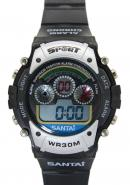 Santai Chronograph Waterproof Date Display Alarm Sport Style Watches