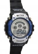 Santai Chronograph Date Display And Digital Quartz Sport Style Watches