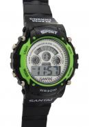 Santai Chronograph Waterproof Date Display Alarm Green Case Watches