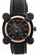 WINNER Mens Boys Rose Gold Bezel Stainless Steel Skeleton Automatic Mechanical Watches