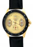 WINNER Men SubDials Calendar Date Gold Chronograph Minute Disk Tachymetre Bezel Automatic Watches