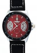 WINNER Mens Sub Dials Calendar Date Red Dial Skeleton Automatic Mechanical Watches