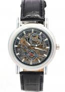 WINNER Unisex 3ATM Water Resistant Leather Band Analogue Skeleton Automatic Mechanical Watches